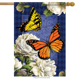 Classic Butterflies Spring House Flag