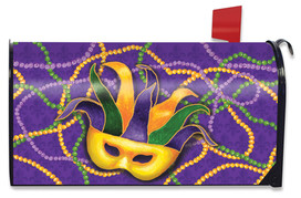 Mardi Gras Holiday Magnetic Mailbox Cover