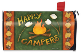 Happy Campfire Fall Mailbox Cover