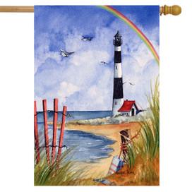 Coastline Summer House Flag