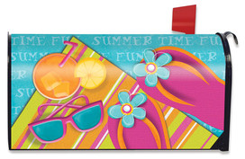 Pool Party Summer Large / Oversized Mailbox Cover