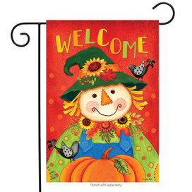 Harvest Scarecrow Fall Garden Flag