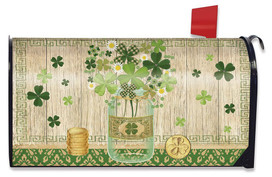 Lucky Clovers St. Patrick's Day Large /Oversized Mailbox Cover