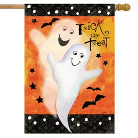 Ghost Duet Halloween House Flag
