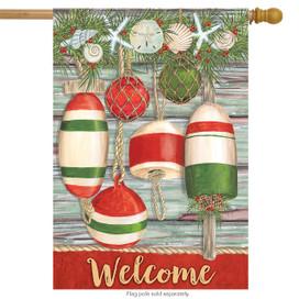 Festive Buoys Christmas House Flag