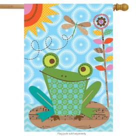 Frog Summer House Flag