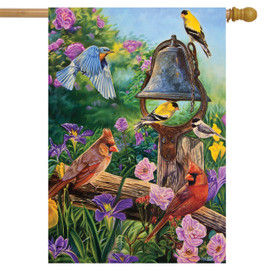 Garden Melodies Spring House Flag