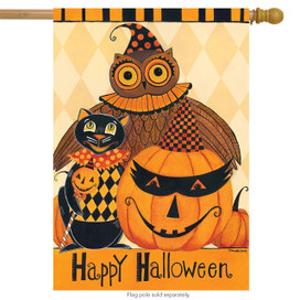 Halloween Party Primitive House Flag