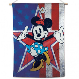 Minnie Mouse Americana House Flag