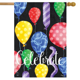 Celebrate Balloons House Flag