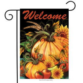 Autumn Harvest Welcome Garden Flag