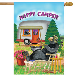 Happy Camper Summer House Flag