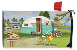 Woodsy Camper Summer Mailbox Cover
