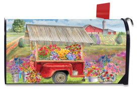Spring Farm Floral Mailbox Cover