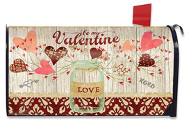 Lovely Hearts Valentine's Day Large / Oversized Magnetic Mailbox Cover