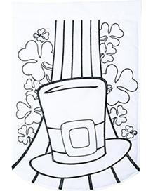 """Lucky Hat """"Color Me"""" Applique Garden Flag"""