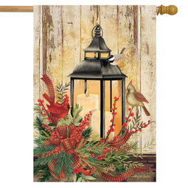 Holiday Lantern Christmas House Flag