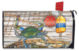 Blue Crab Bushel Summer Mailbox Cover