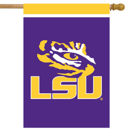 LSU Fighting Tigers NCAA Licensed House Flag