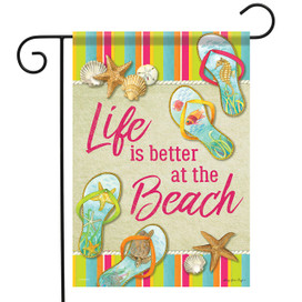 Beach Flip Flops Summer Garden Flag