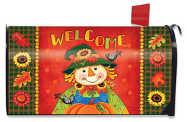 Harvest Scarecrow Fall Magnetic Mailbox Cover