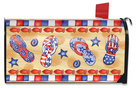 Patriotic Beach Day Summer Large / Oversized Mailbox Cover