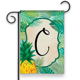 Palms Monogram C Garden Flag