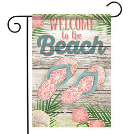Beach Welcome Summer Garden Flag