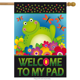 Frog Welcome Summer House Flag