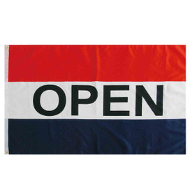 Red, White & Blue Open Grommet Flag