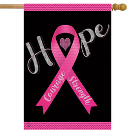 Hope, Courage, Strength Awareness House Flag