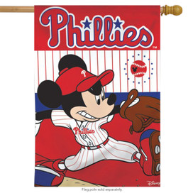 Philadelphia Phillies MLB Mickey Mouse Baseball House Flag