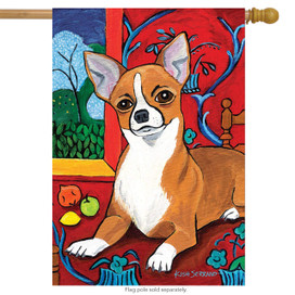 Muttisse Chihuahua Dog House Flag