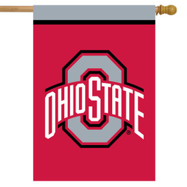 Ohio State Buckeyes NCAA House Flag