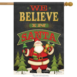 We Believe Christmas House Flag