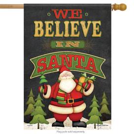 We Believe Christmas House Flag
