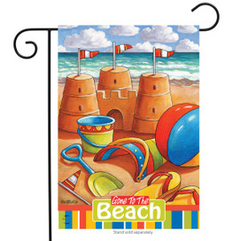 Gone to the Beach Summer Garden Flag