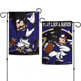 Baltimore Ravens 2-Sided Mickey Mouse NFL Garden Flag