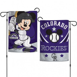 Colorado Rockies Mickey Mouse Garden Flag