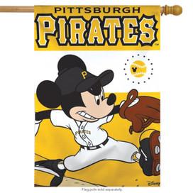 Pittsburgh Pirates MLB Mickey Mouse Baseball House Flag