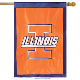 University of Illinois Fighting Illini NCAA Licensed House Flag