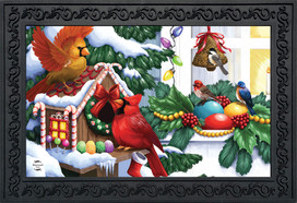 Home For The Holidays Christmas Doormat