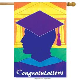 Congratulations Graduate Celebration House Flag