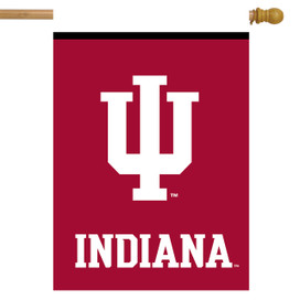 Indiana Hoosiers NCAA House Flag