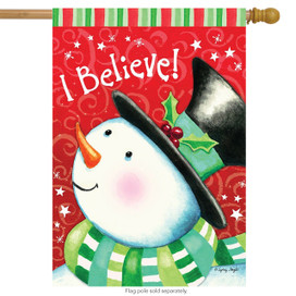 I Believe Christmas House Flag