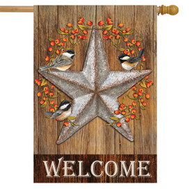 Harvest Barnstar Welcome House Flag