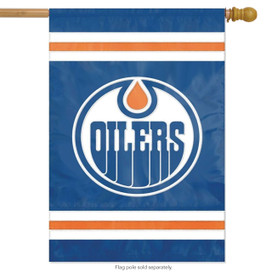 Edmonton Oilers Applique & Embroidered Flag NHL