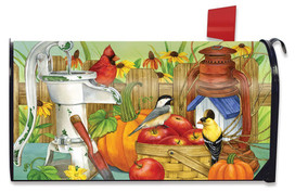 Autumn Display Birds Large / Oversized Mailbox Cover