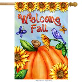 Welcome Fall Pumpkin House Flag