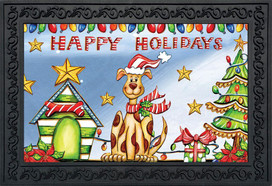 Happy Holidays Dog Doormat